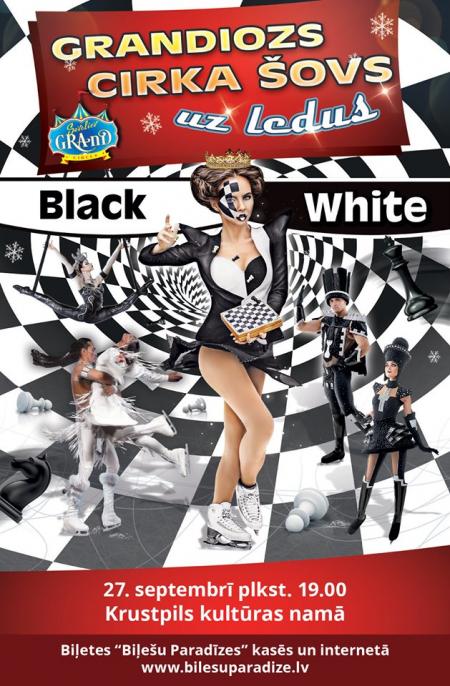 """Jēkabpilī viesosies dinamisks un neiedomājami krāšņs  ledus cirka šovs """"Black & White"""""""