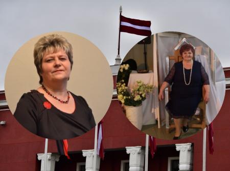 """Apbalvojums Jēkabpils """"Goda pilsonis"""" piešķirts Silvijai Dreimanei un Rutai Kalniņai"""